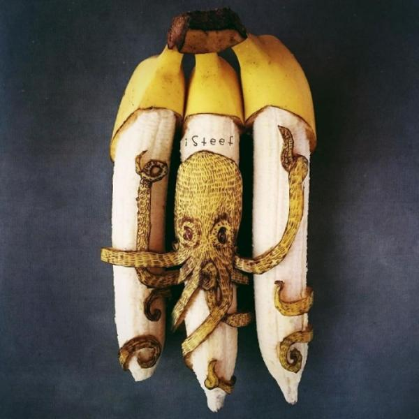 Банановые холсты: нестандартные шедевры голландского художника (ФОТО)