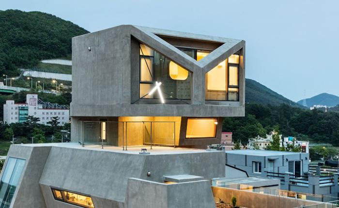 Брутальный фасад: Дом, похожий на хищную птицу (ФОТО)