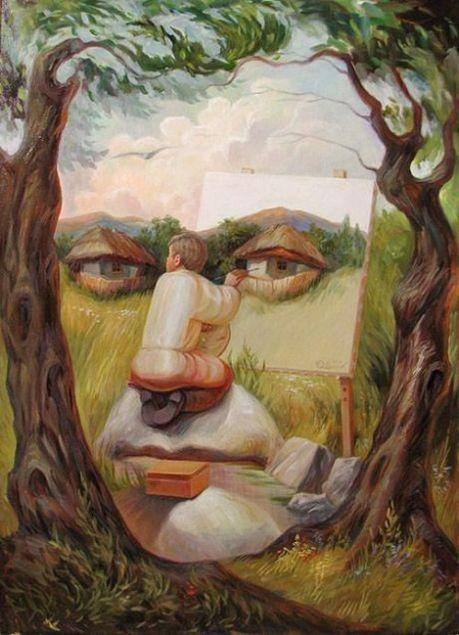 Скрытые лица: необычные работы украинского художника (ФОТО)