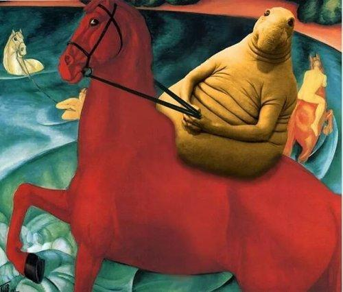 Популярный мем «Ждун» на картинах известных художников (ФОТО)