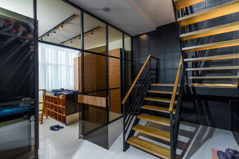 Нестандартное решение: Дизайн двухэтажной квартиры в столице Украины (ФОТО)