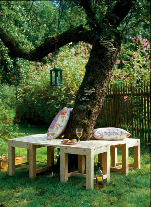 Уголок для отдыха в летнем саду (ФОТО)