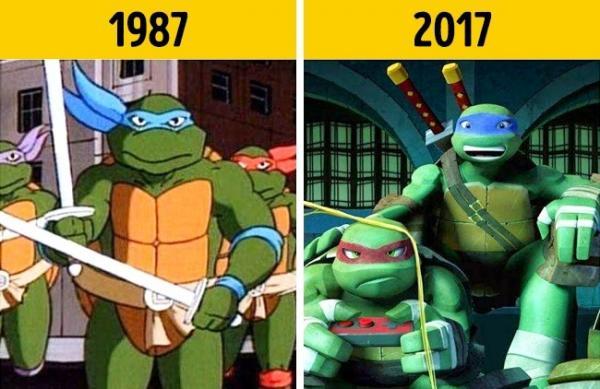 Любимые мультяшные герои десятки лет спустя (ФОТО)