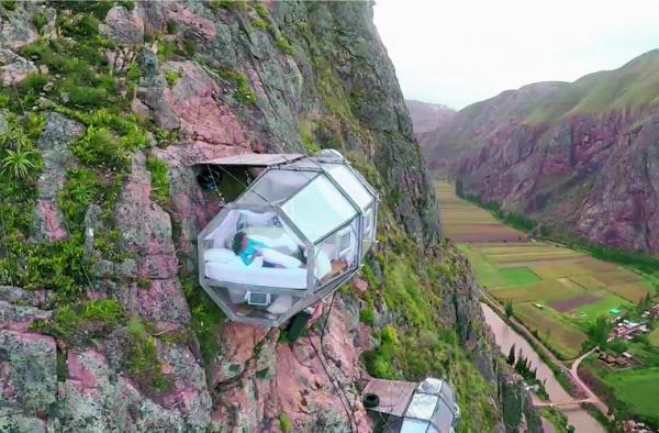 В Перу открылся необычный отель для поклонников острых ощущений (ФОТО)