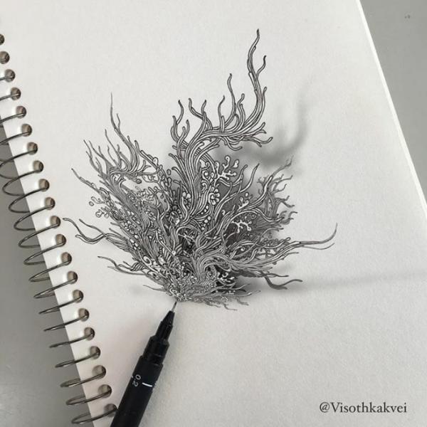 Впечатляющие работы камбоджийского художника всколыхнули Instagram (ФОТО)