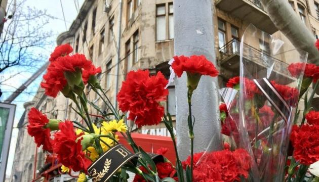 В Украине день траура по погибшим во время пожара в Одессе
