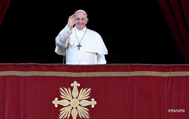 Папа Римский вспомнил об Украине в день Рождества