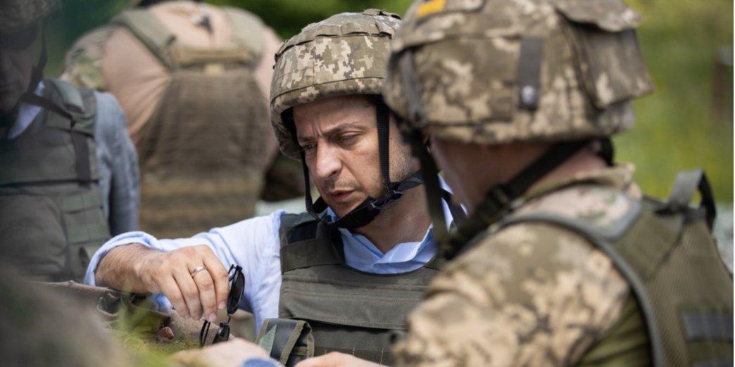 Украинская сторона определила три дополнительных участка разведения войск на Донбассе — Зеленский