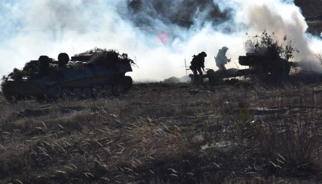Оккупанты стреляли из минометов 82 калибра по позициям ВСУ возле Луганского