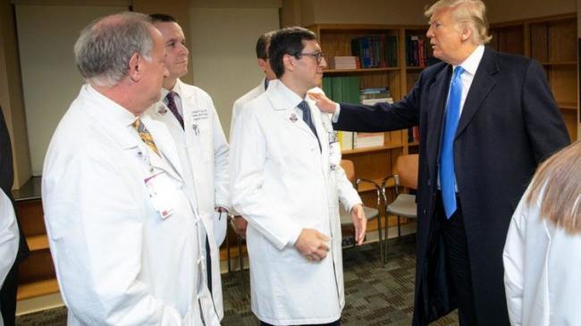 Трамп испытал на себе новый тест на коронавирус