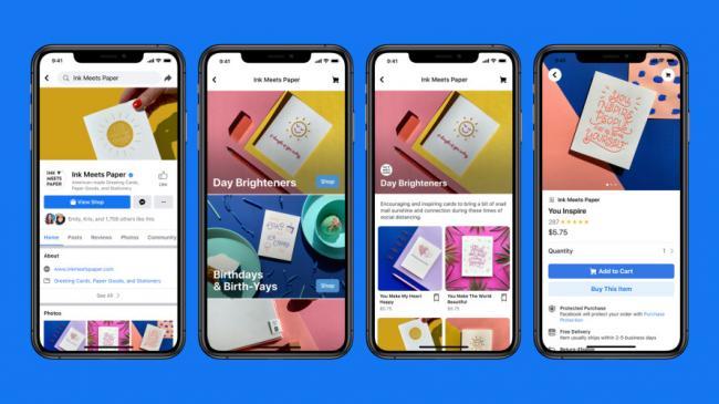 Facebook запустила бесплатный сервис для создания магазинов в своих соцсетях