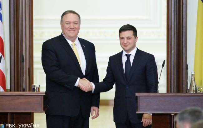 Зеленский и Помпео обсудили перемирие на Донбассе