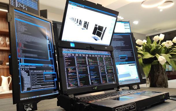 В Великобритании представали ноутбук с семью экранами