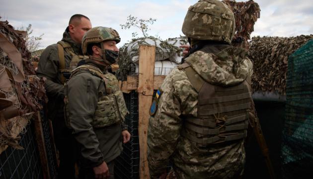Зеленский вместе с послами стран G7 приехал на Донбасс