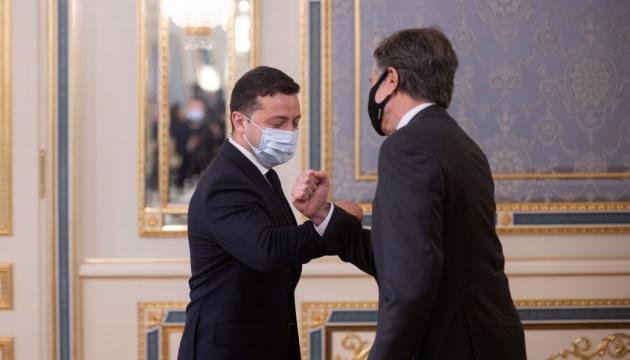 Зеленский встретился с госсекретарем США